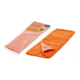 Салфетка из микрофибры и коралловой ткани оранжевая (35*40 см)
