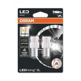 LEDriving SL (3поколение) 1,3W/12V PY21W BAU15S BLI2 оранжевый 2шт