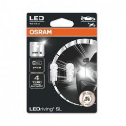 LEDriving SL (3поколение) 0,8W/12V W5W W2.1X9.5D BLI2 белый 6000K 2шт