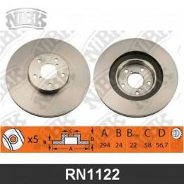 RN1122V Диск тормозной | перед |