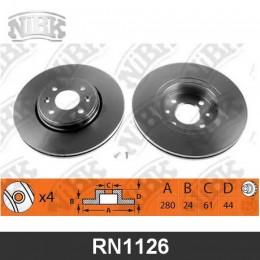 RN1126V Диск тормозной | перед |