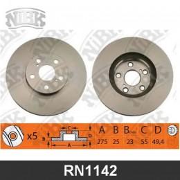 RN1142V Диск тормозной | перед |