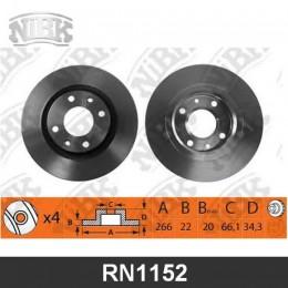 RN1152V Диск тормозной | перед |