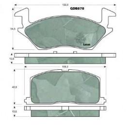 Колодки тормозные дисковые A1N043 ADVICS